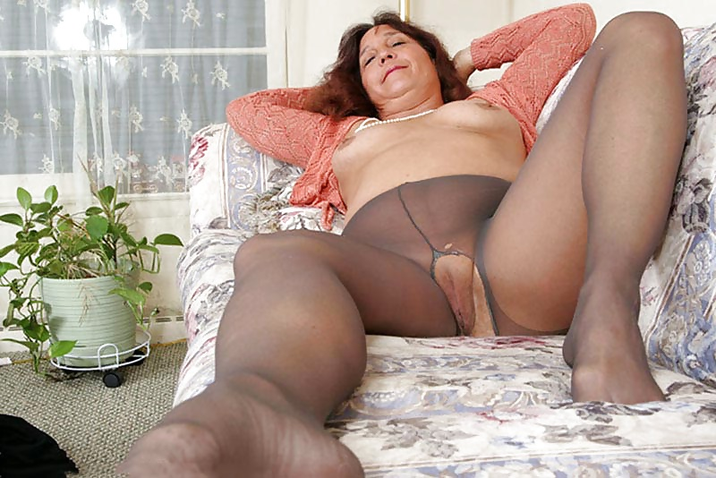 Beautiful long mature pantyhose legs women