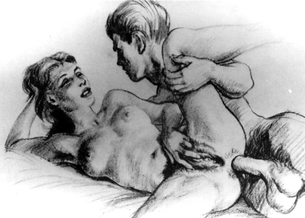 Рисунки любителей порно, девушки спят их ебут