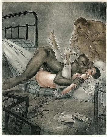 drawings Interracial sex art