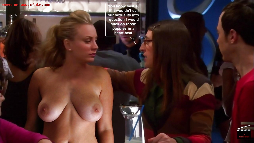fakes theory bang Kaley big cuoco nude