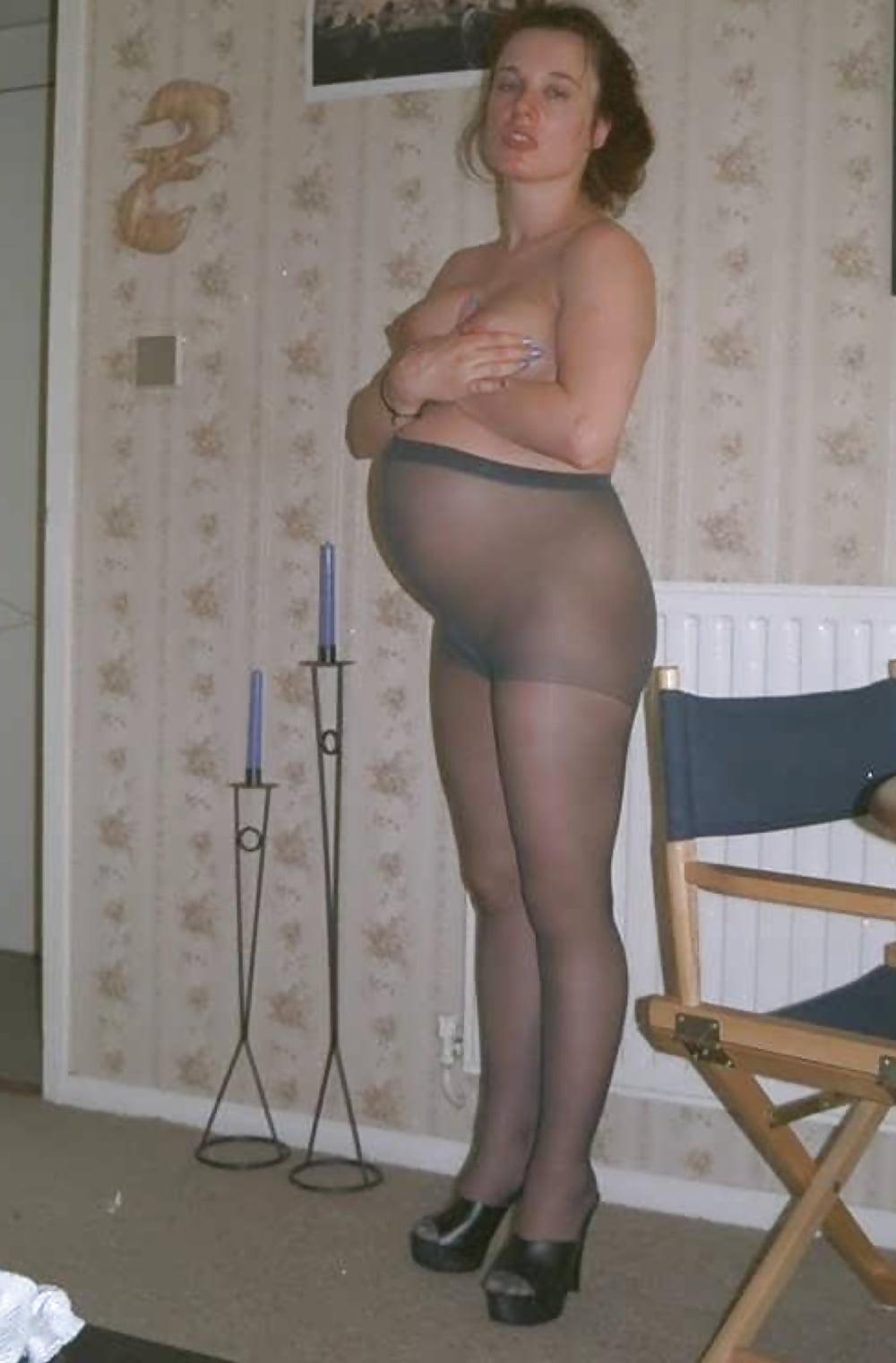 Pregnant in pantyhose nylon — 4