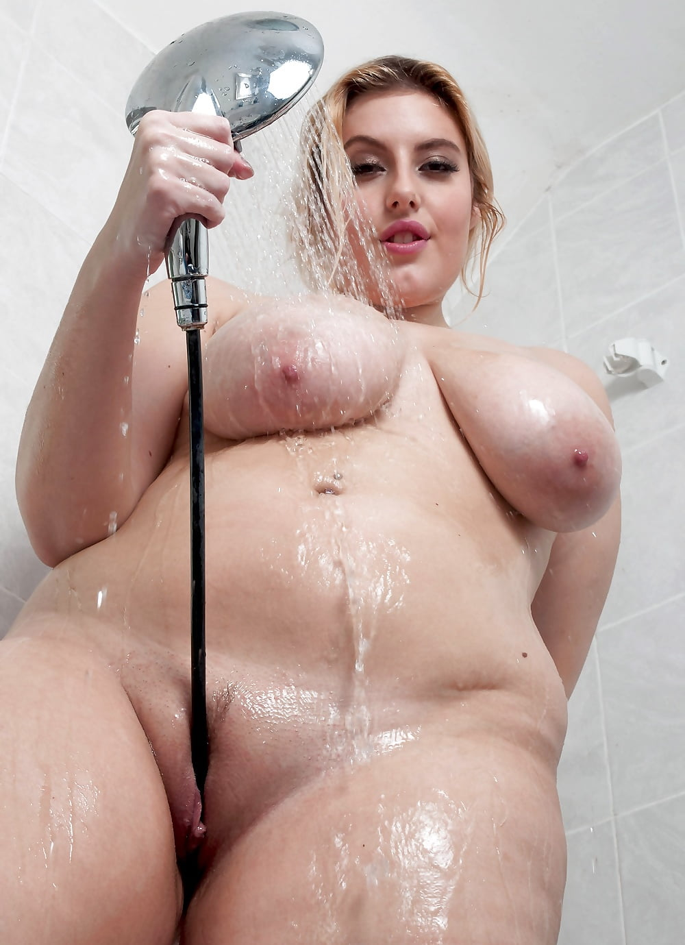 Cute chubby in shower