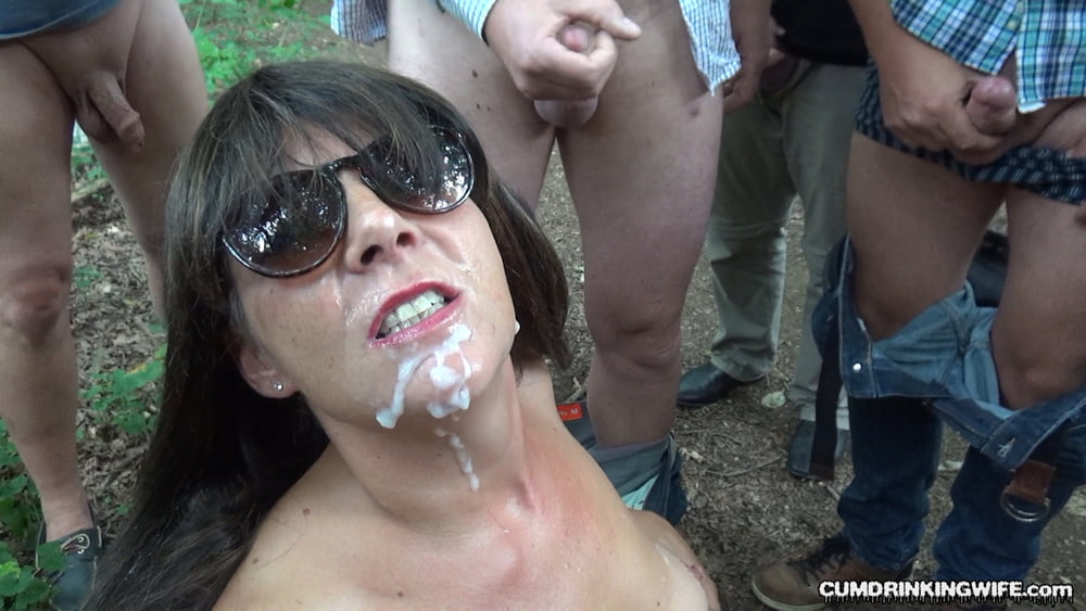 Slutwife Marion Pissed On By Plenty Of Guys