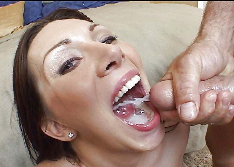 Skinny milf blowjob swallow