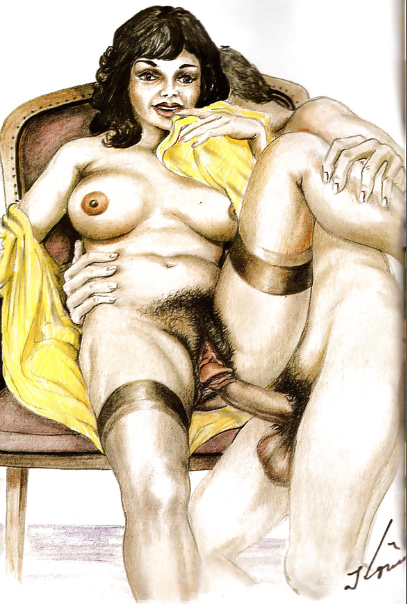 Винтаж рисованные порно — photo 11