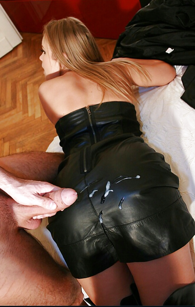 Mature Milf Leather Skirt And Boots