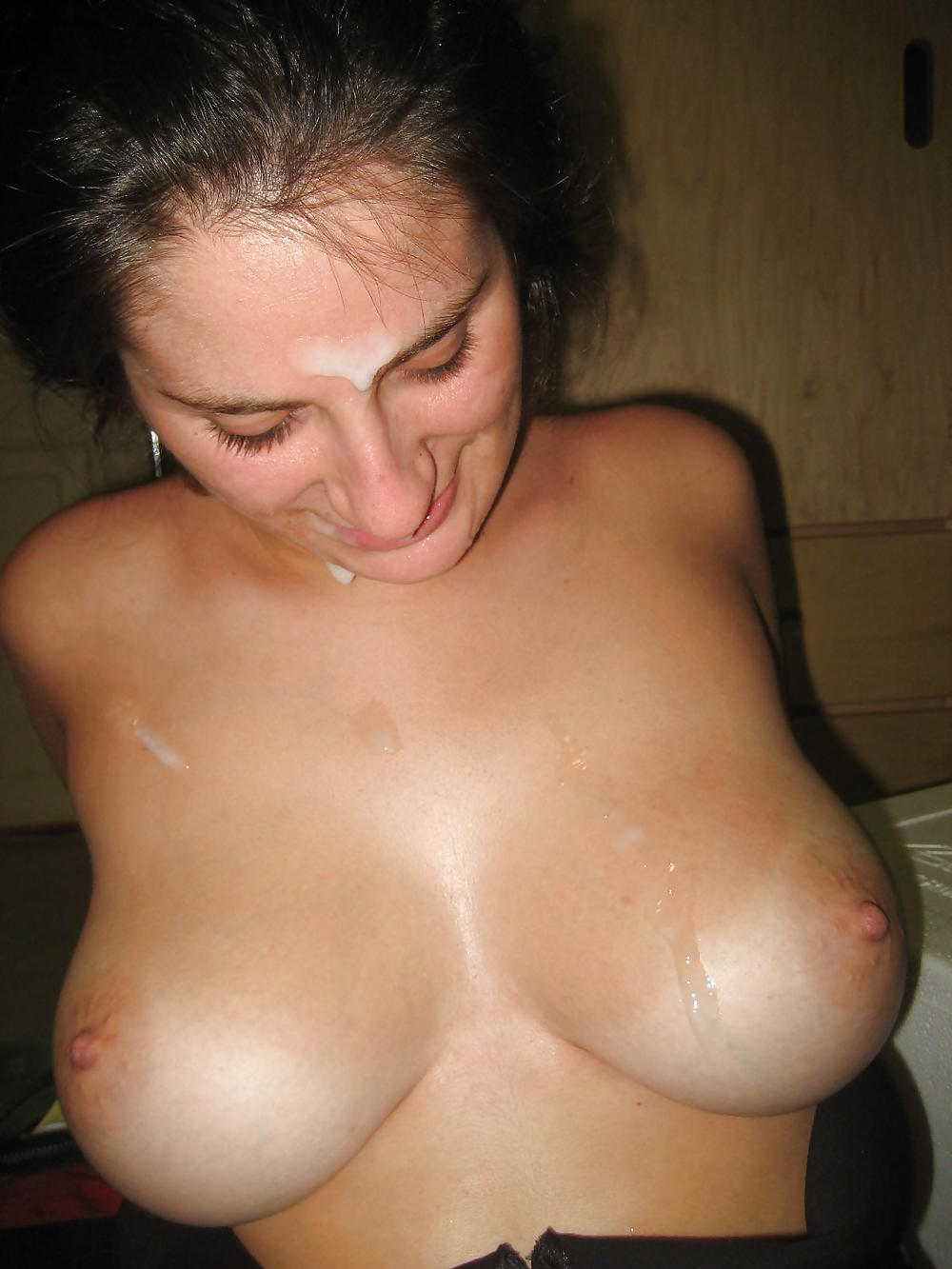 Woman with big boobs