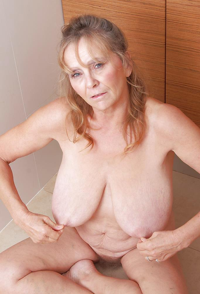 British grandma vikki with her small saggy tits and hairy cunt