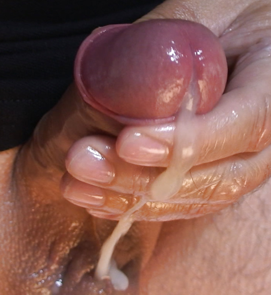 Close up cocks and cum would
