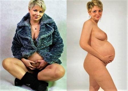 Und nackt angezogen frau schwangere Schwangere und