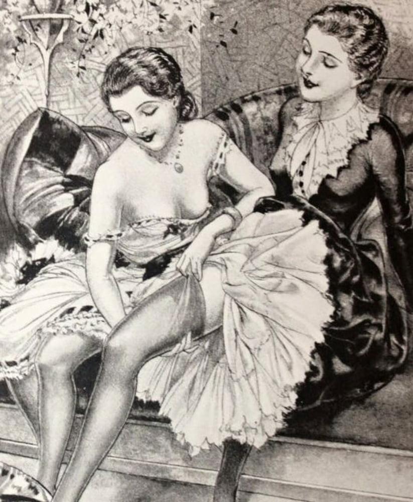 Vintage french erotic postcards