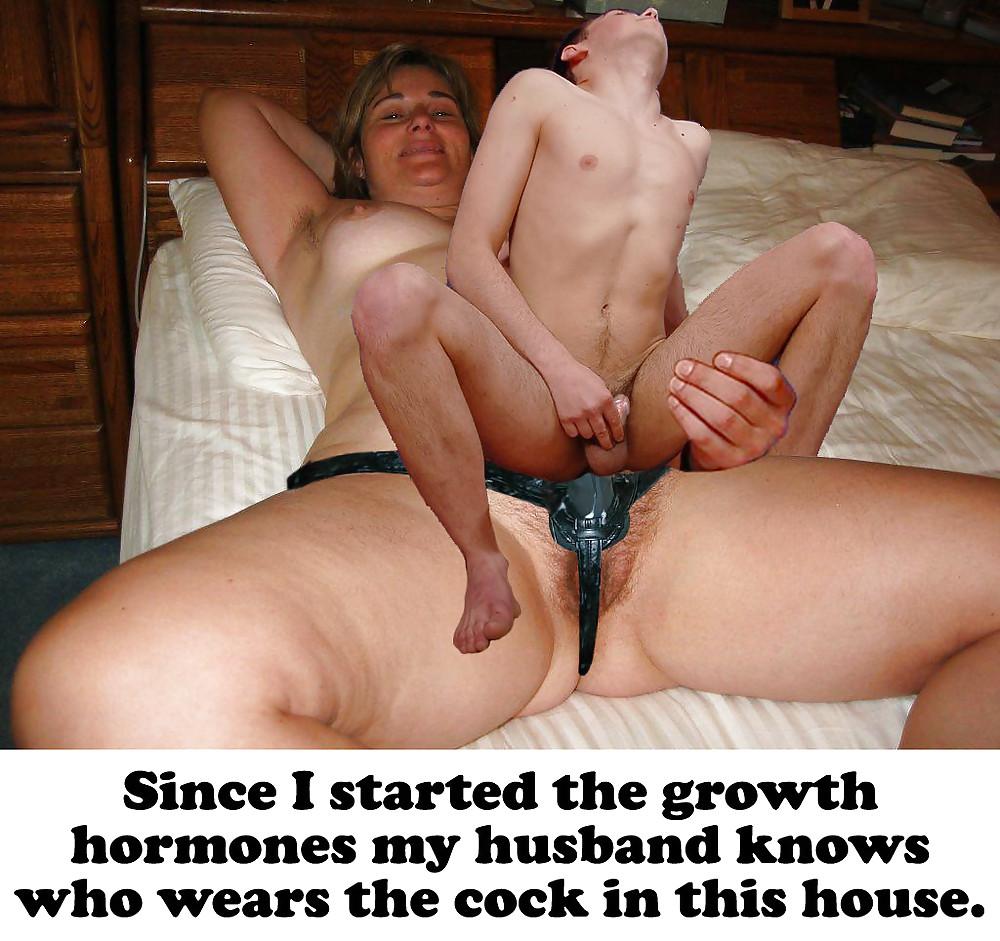 Strapon small dick men