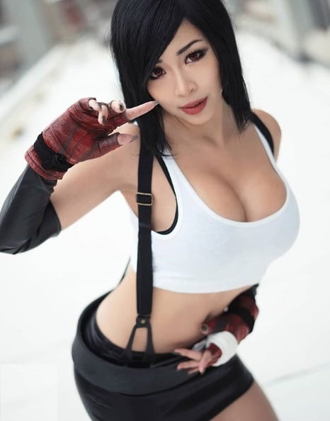 Yuna And Tifa Final Fantasy Cosplay Cumlouder 1