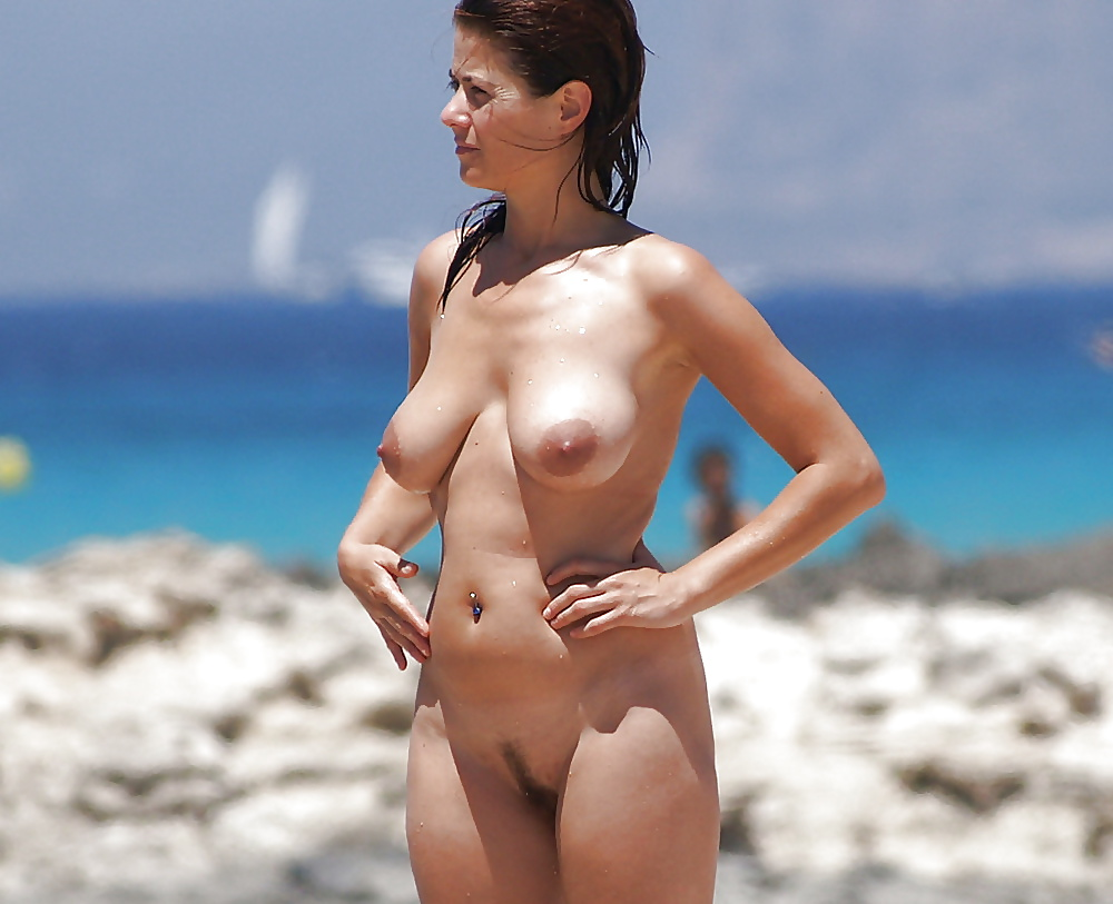 Topless nudists