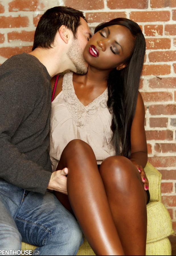 Large tit white chick is having interracial sex with dark man
