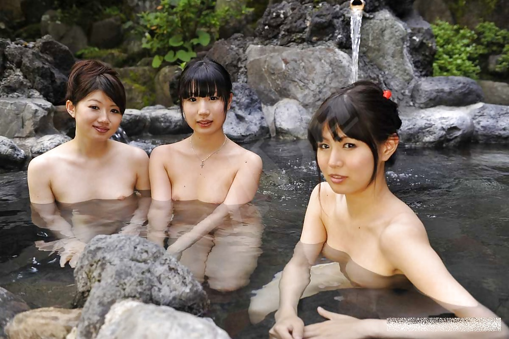 Naked men onsen, big titted wives