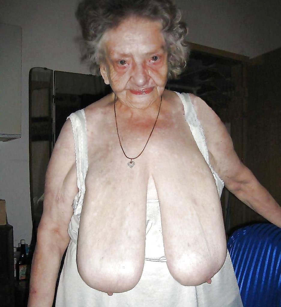 Massive fat saggy tits grannies