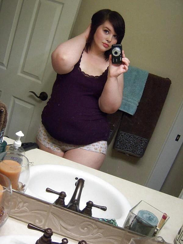 Chubby Teen Selfie Bbw Nerdy Teen Girl Young Posing -5437