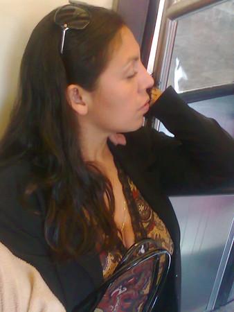 Tetas en el Metro