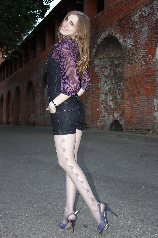 Sexy wife short skirt