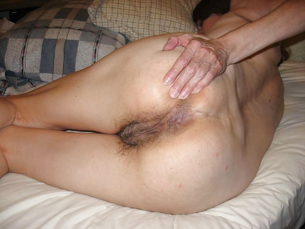 Wife holds her hairy ass open and i cum in her tnaflix porn pics