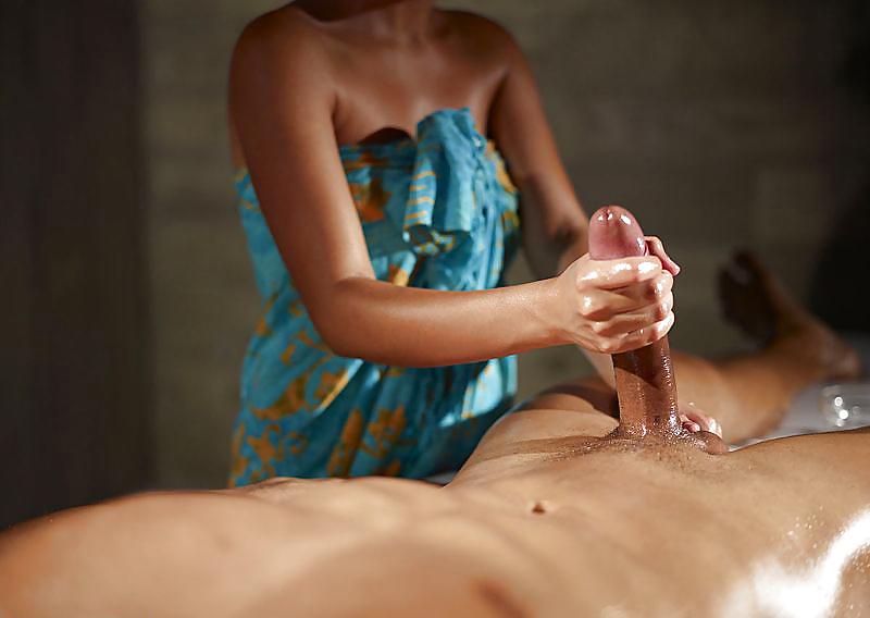 Русскими видео массаж мужского члена