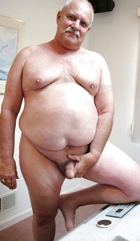 Older chubby gay man