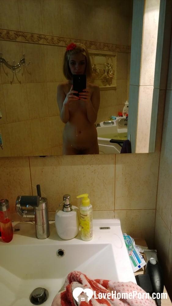 Cute teen is proud of her hot body