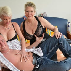 Hardcore Threesome Sex With Horny German Grannies