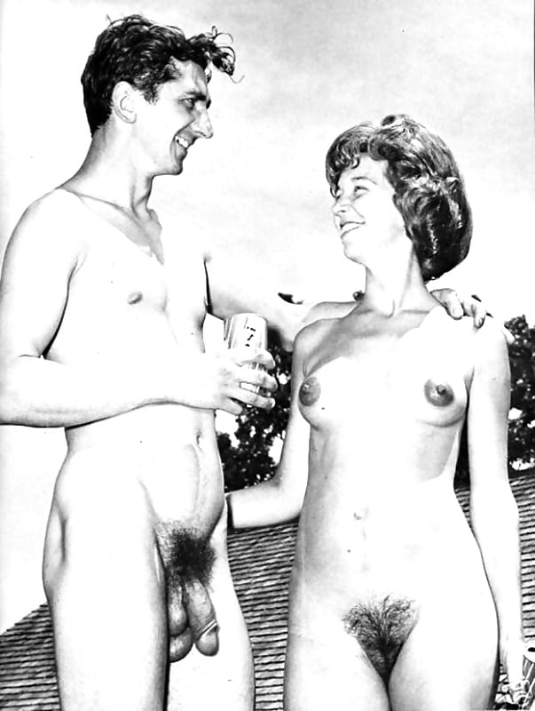 Retro nude couples