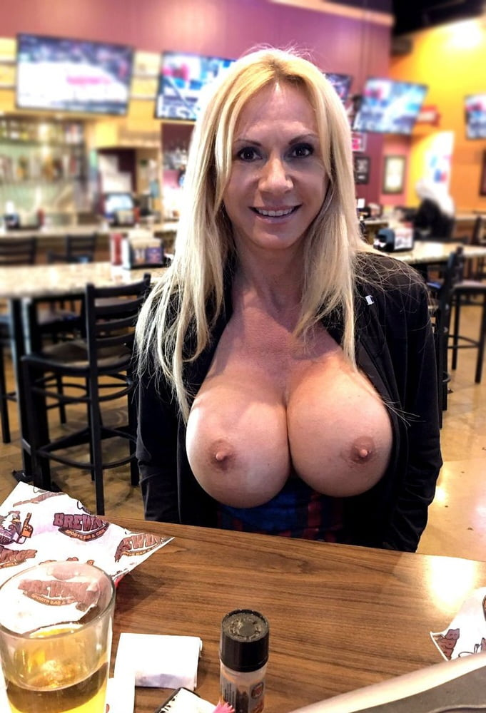 Flashing Big Tits In Public