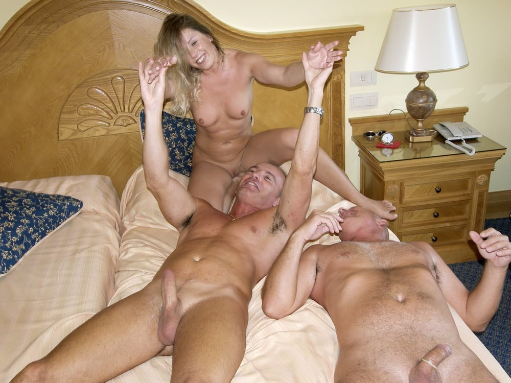 WIFE FUCKS HUBBY AND HIS BOSS - 24 Pics