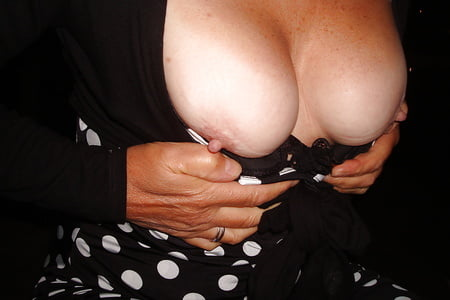a bit nipply in polka dots and pantyhose
