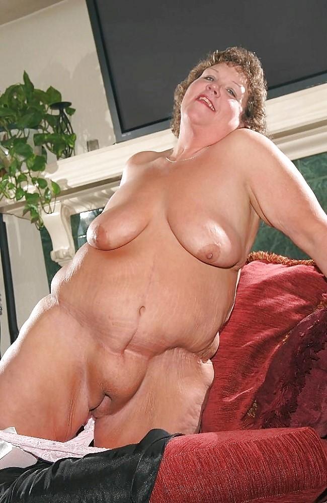 Fat old grandma naked