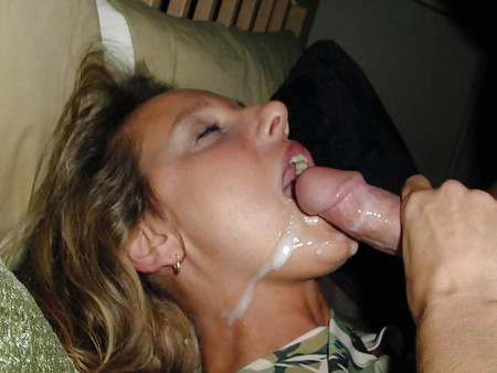 Cumshots in her open mouth - N. C.