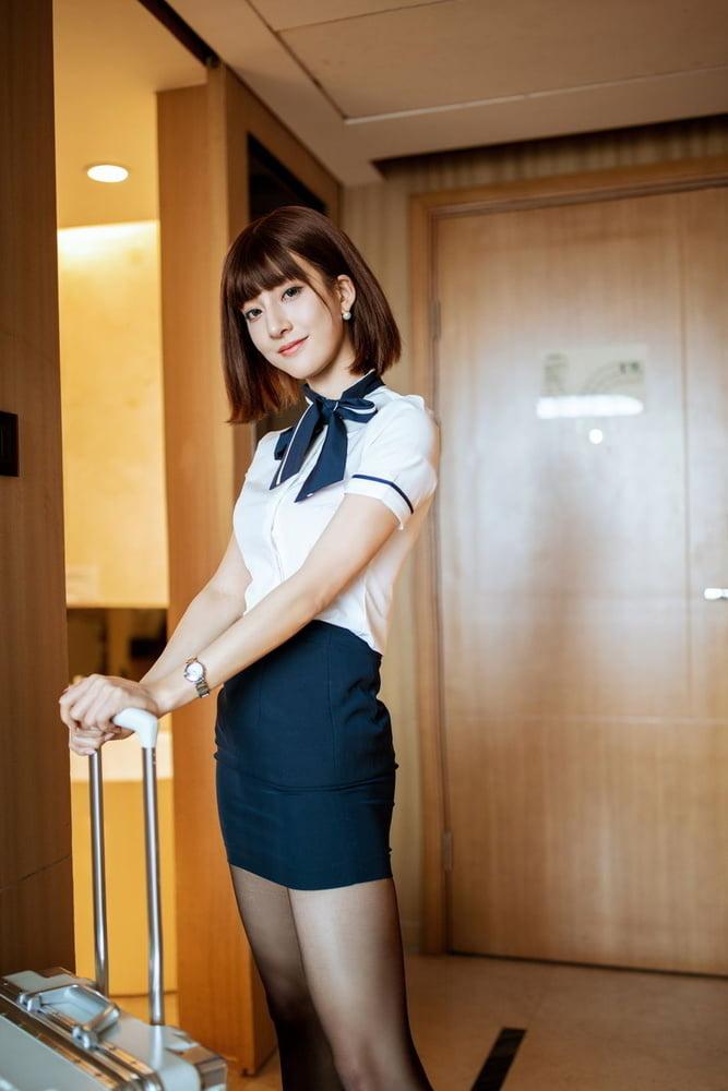 Asian girl in black pantyhose - 51 Pics
