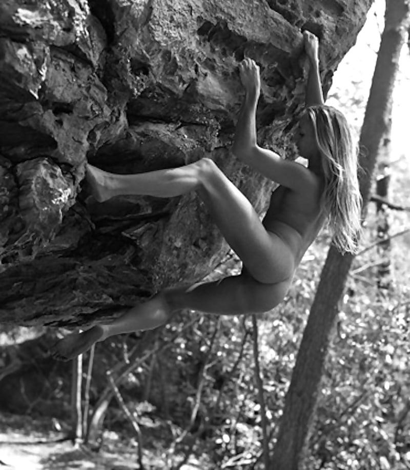 Nude rock climb photograph by david james