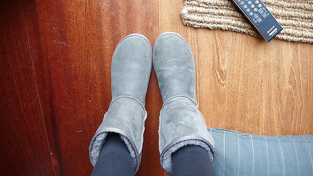 Ugg rain boots matte-4907