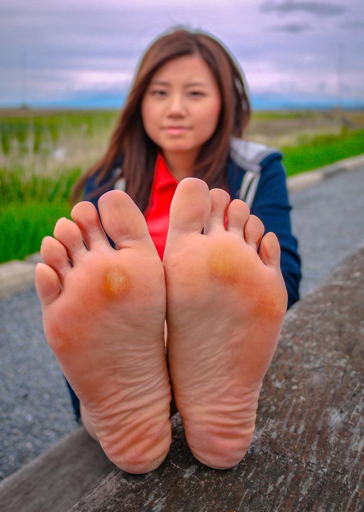 Barefoot asian teens 6
