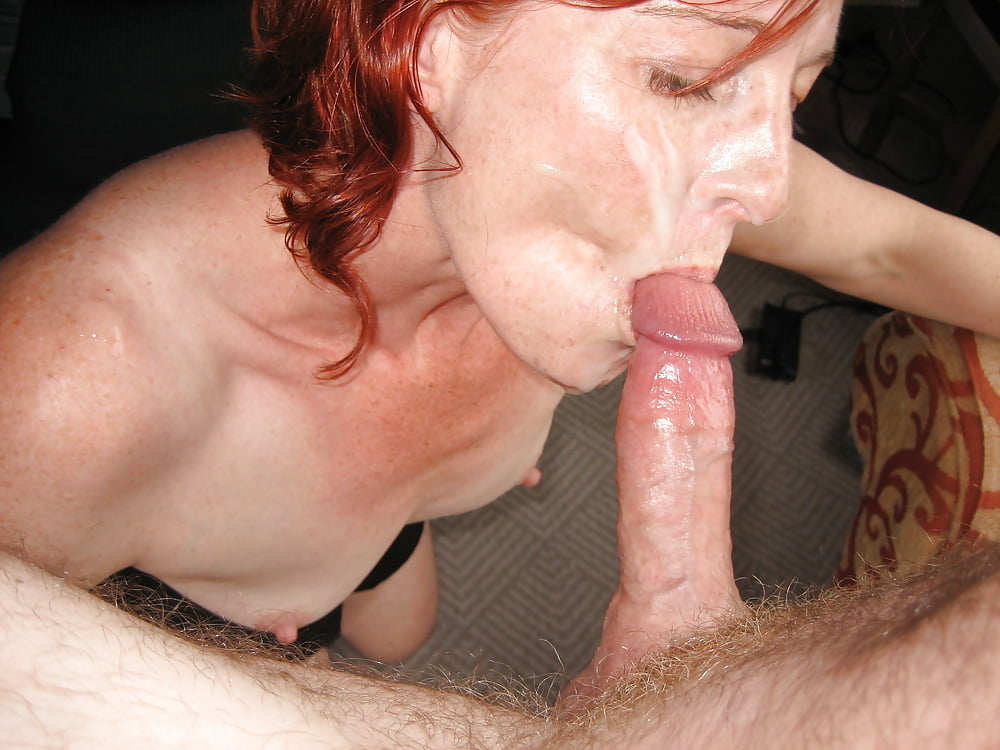 Mature mom sucking sons cock — 6