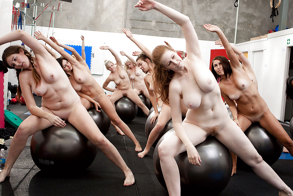 Nude group exercise