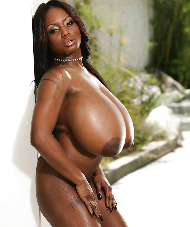 Nude black woman fake tits — pic 9