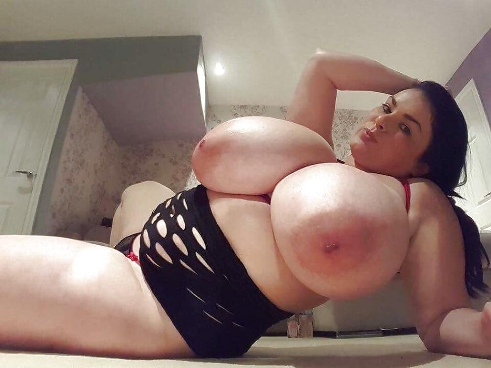 Huge tits alone