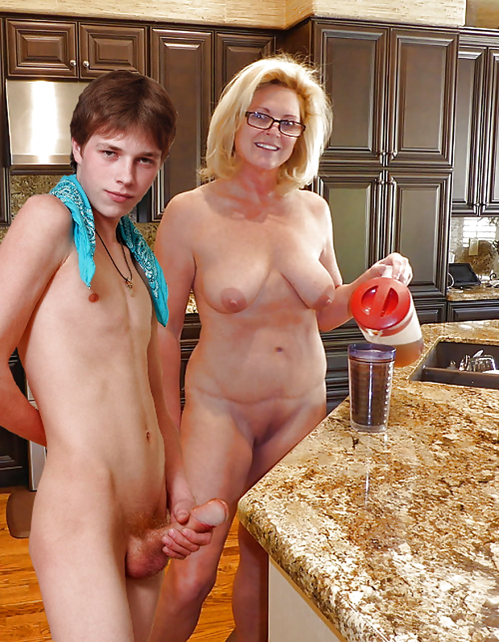 Mom likes to see son naked, busty nudist gifs