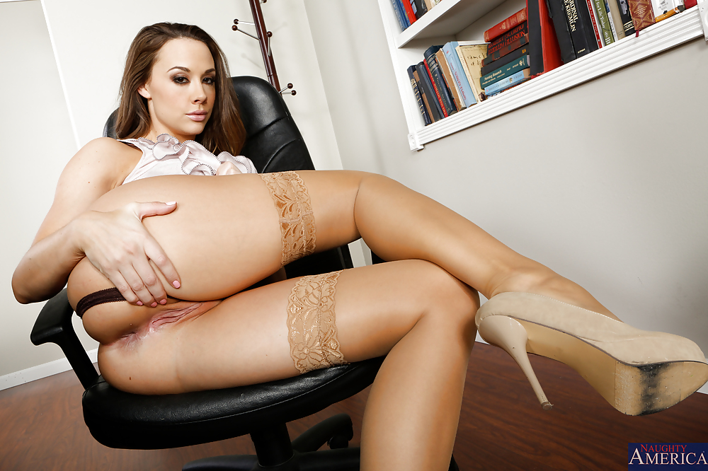 Chanel Preston On Black Stockings And Heels Exposes Her Body Fakehub 1