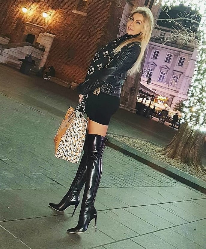 Pvc boots leather latex 120
