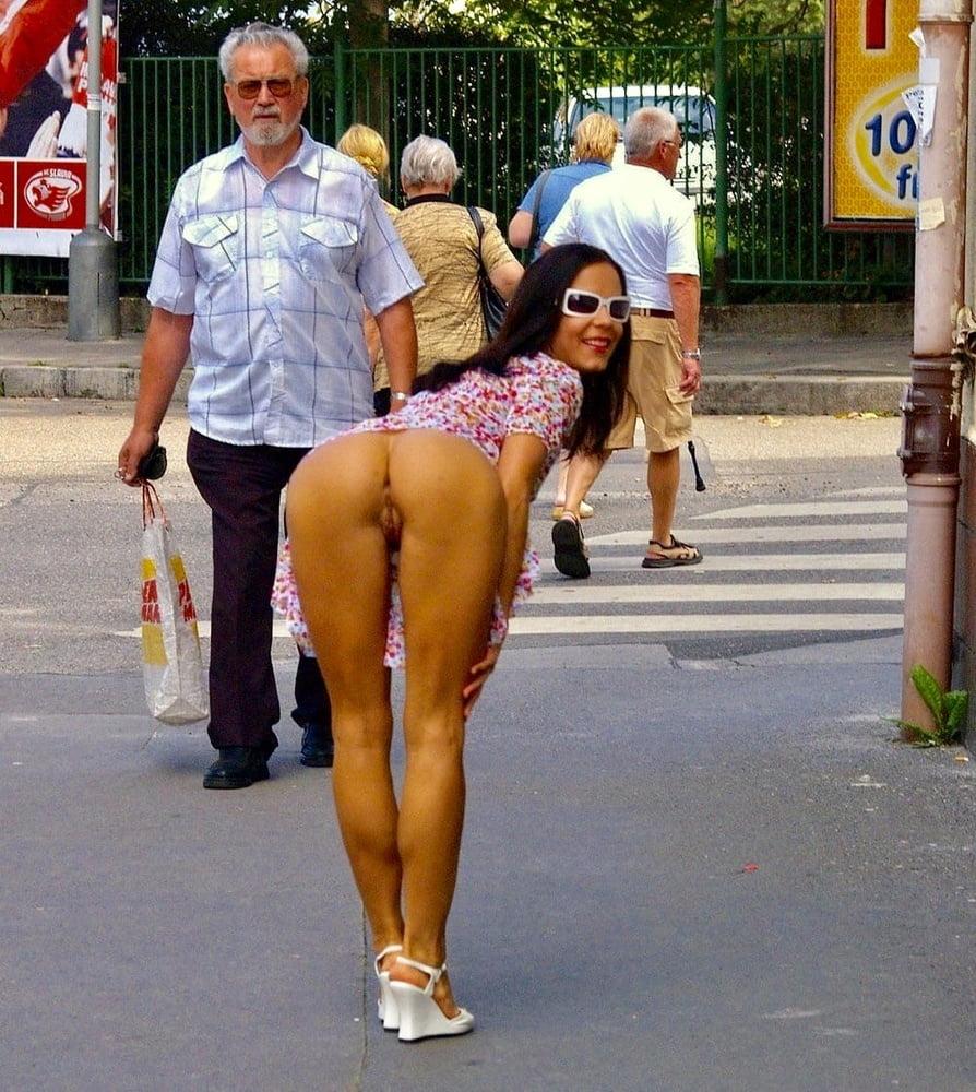 Nude women bent over in public 4