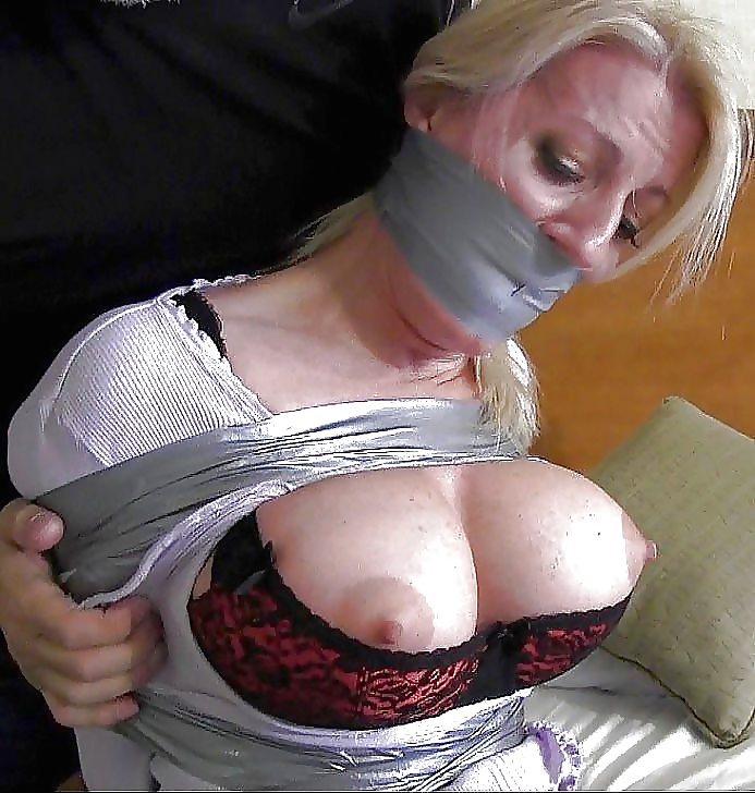 Hands tied tits groped