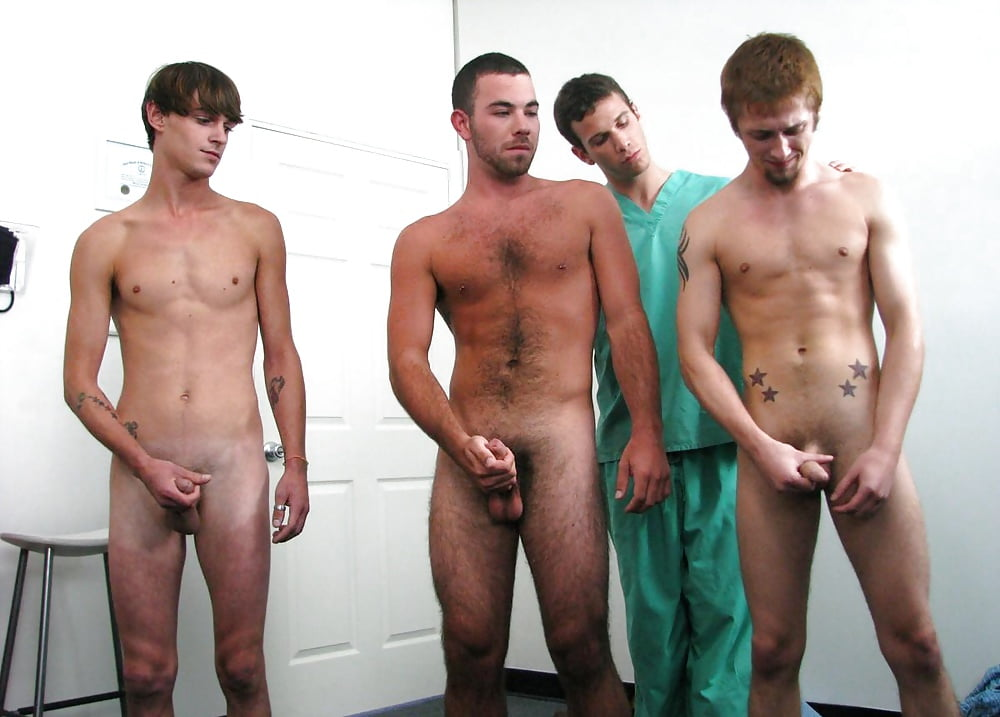 Groups of naked hairy guys