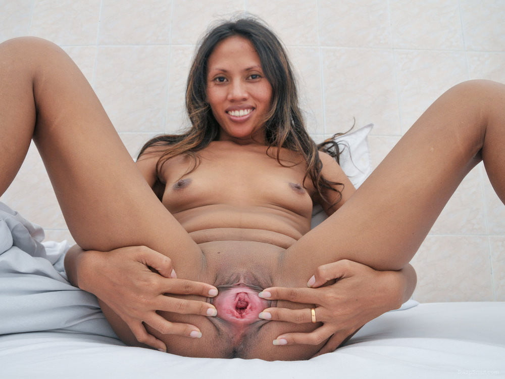 Black pussy spreading wide